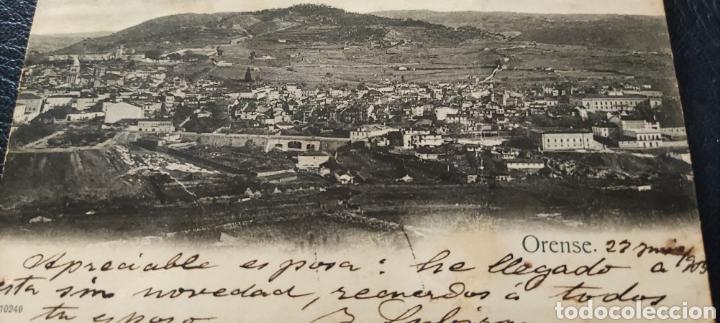 Postales: Antigua postal Ourense 1903 circulada - Foto 2 - 268409384
