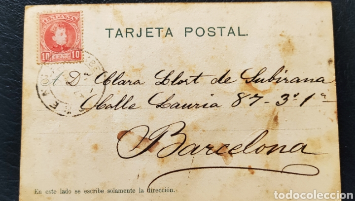 Postales: Antigua postal Ourense 1903 circulada - Foto 3 - 268409384