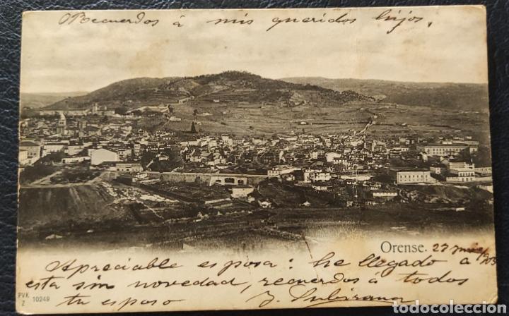 ANTIGUA POSTAL OURENSE 1903 CIRCULADA (Postales - España - Galicia Antigua (hasta 1939))