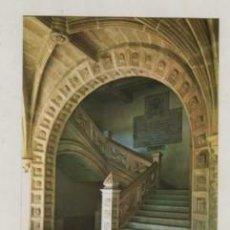 Postales: POSTAL DE MONASTERIO DE SAMOS - LUGO ESCALERA GOTICA Nº7 HELIOT. ART. ESPAÑA. Lote 268455164