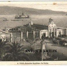 Postales: VIGO Nº 4 ESTACION MARITIMA , LA BAHIA / FOTO L. ROISIN. Lote 268843184