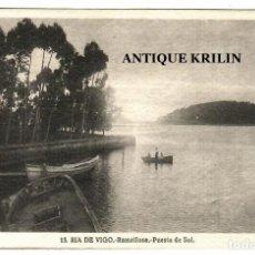 Postales: RIA DE VIGO Nº 13 RAMALLOSA .- PUESTA DE SOL / FOTO L. ROISIN. Lote 268883964