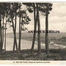 Postales: RIA DE VIGO Nº 14 PLAYA DE AMERICA LOURIDO / FOTO L. ROISIN. Lote 268884499
