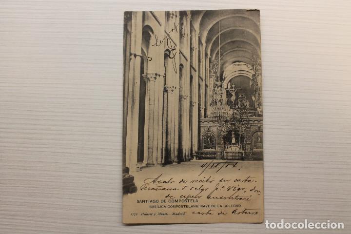 POSTAL SANTIAGO DE COMPOSTELA, BASÍLICA COMPOSTELANA, NAVE DE LA SOLEDAD, HAUSER (Postales - España - Galicia Antigua (hasta 1939))