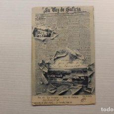 Postales: POSTAL LA CORUÑA, LA VOZ DE GALICIA, FOT. DE BELLO, LIBRERÍA DE LINO PÉREZ. Lote 268938479