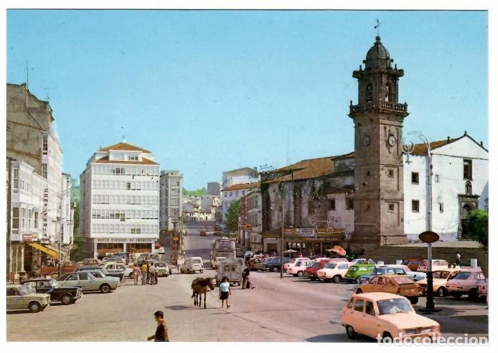 BETANZOS, PL. HNOS. GARCÍA NAVEIRA. EDICIONES ALARDE Nº 6 (1975). COCHES DE LA ÉPOCA. (Postales - España - Galicia Moderna (desde 1940))