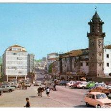 Postales: BETANZOS, PL. HNOS. GARCÍA NAVEIRA. EDICIONES ALARDE Nº 6 (1975). COCHES DE LA ÉPOCA.. Lote 269500988