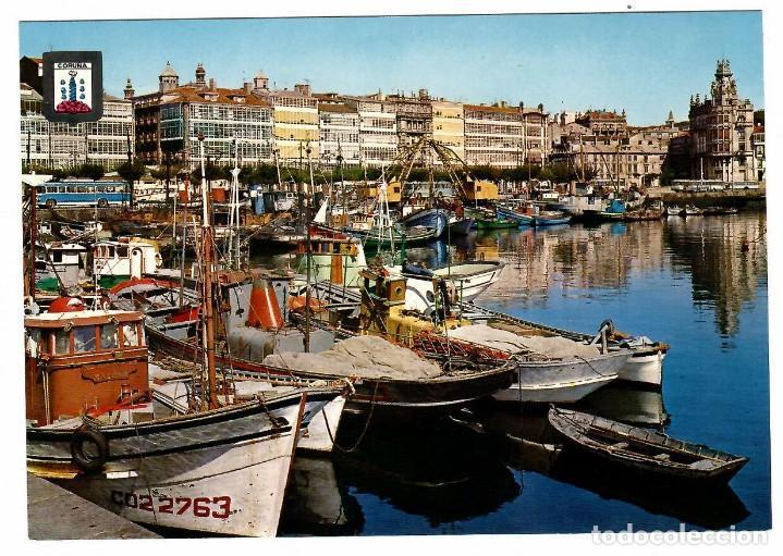 CORUÑA, LA DÁRSENA. ED. DOMÍNGUEZ Nº 49 (1966). (Postales - España - Galicia Moderna (desde 1940))