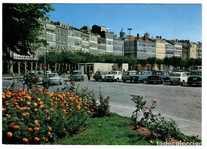CORUÑA, AV. DE LA MARINA. ED. ARRIBAS 2106 (1970). CIRCULADA A BARCELONA EN 1971. COCHE DE LA ÉPOCA. (Postales - España - Galicia Moderna (desde 1940))
