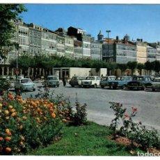 Postales: CORUÑA, AV. DE LA MARINA. ED. ARRIBAS 2106 (1970). CIRCULADA A BARCELONA EN 1971. COCHE DE LA ÉPOCA.. Lote 269501203
