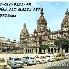Postales: POSTAL CORUÑA PLAZA DE MARÍA PITA AYUNTAMIENTO EDIT. ARRIBAS Nº 121/327 AÑO 1972**. Lote 296883618