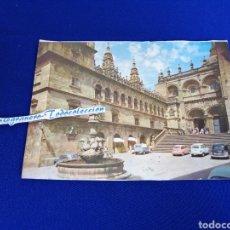 Postales: SANTIAGO DE COMPOSTELA FUENTE Y FACHADA DE LAS PLATERÍAS. Lote 275100633