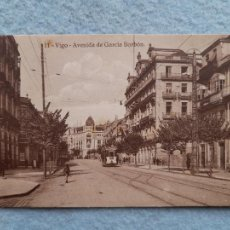 Postales: VIGO. AVENIDA DE GARCÍA BORBÓN. TRANVÍA.. Lote 275146243