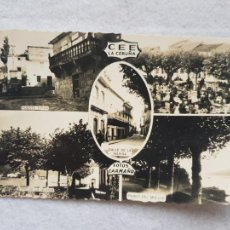 Postales: RARA CEE A CORUÑA FOTOS CAAMAÑO GALICIA AÑO 1958 CIRCUALADA Y FRANQUEADA. Lote 275164618