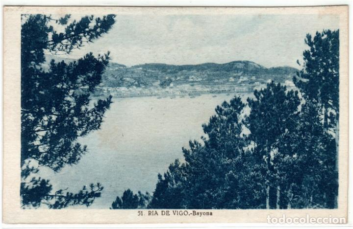 BONITA POSTAL - BAYONA (GALICIA) - RIA DE VIGO (Postales - España - Galicia Antigua (hasta 1939))