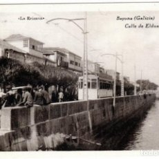 Postales: PRECIOSA POSTAL - BAYONA (GALICIA) - CALLE DE ELDUAYEN - LA ERIZANA. Lote 275447303