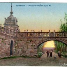 Postales: PRECIOSA POSTAL - CAMBADOS (GALICIA) - PALACIO FILIFAÑES (FEFIÑANES) SIGLO XV. Lote 275462803