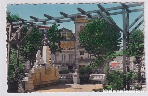 50 ORENSE MONUMENTO A LAMAS CARVAJAL. ESCRITA. SIN CIRCULAR. (Postales - España - Galicia Antigua (hasta 1939))