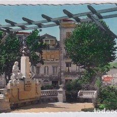 Postales: 50 ORENSE MONUMENTO A LAMAS CARVAJAL. ESCRITA. SIN CIRCULAR.. Lote 275545328