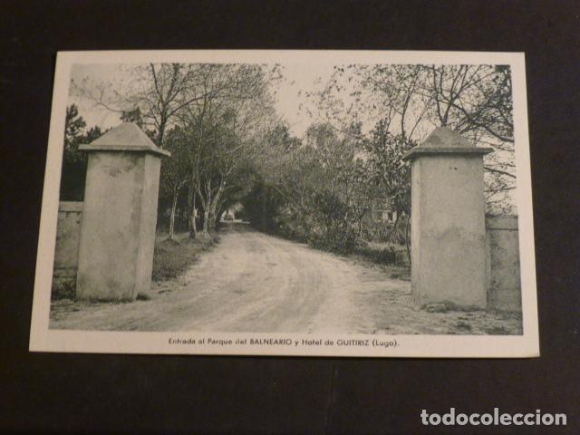 GUITIRIZ LUGO BALNEARIO ENTRADA AL PARQUE (Postales - España - Galicia Antigua (hasta 1939))