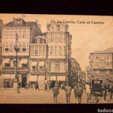 Postales: POSTAL ANTIGUA - LA CORUÑA - CALLE DE CASTELAR. Lote 276787353