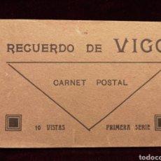 Postales: POSTAL ANTIGUA - BLOCK DE POSTALES DE VIGO - 10 VISTAS. Lote 276789333