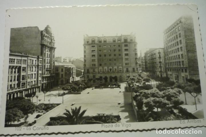 POSTAL LA CORUÑA.-PL.VIGO ESCRITA CM (Postales - España - Galicia Moderna (desde 1940))