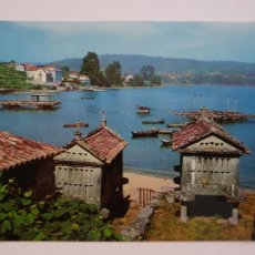Postales: COMBARRO - HÓRREOS JUNTO AL MAR - LAXC - P57385. Lote 277645193