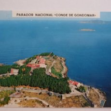 Postales: BAIONA / BAYONA - PARADOR NACIONAL CONDE DE GONDOMAR - LAXC - P57404. Lote 277646558