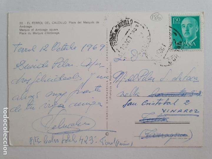 Postales: FERROL - PLAZA DEL MARQUÉS DE AMBOAGE - LAXC - P57676 - Foto 2 - 277738778