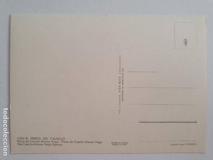 Postales: FERROL - PLAZA DE CAMILO ALONSO VEGA - LAXC - P57677 - Foto 2 - 277738863