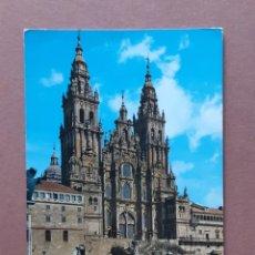 Postales: POSTAL 1 GARCÍA GARRABELLA. CATEDRAL. FACHADA OBRADOIRO. SANTIAGO DE COMPOSTELA. 1964. CIRCULADA.. Lote 278376848