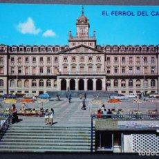 Postales: EL FERROL, PLAZA Y PALACIO MUNICIPAL, ANTIGUA POSTAL SIN CIRCULAR. Lote 278764158