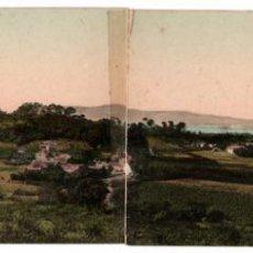 Cartes Postales: BONITA POSTAL DOBLE - LA TOJA (PONTEVEDRA) - ISLA Y BALNEARIO - VISTA DE LA ISLA D´ESDE CASTRELO. Lote 287020423