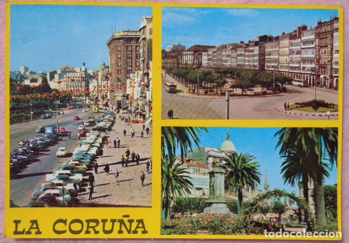 POSTAL DE LA CORUÑA, LOS CANTONES AÑO 1969, SIN CIRCULAR // GALICIA TORRE HÉRCULES RIAZOR ORZÁN LUGO (Postales - España - Galicia Moderna (desde 1940))