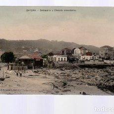 Cartes Postales: BAYONA (PONTEVEDRA).- BALNEARIO Y CHALETS INMEDIATOS. Lote 287132828
