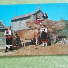 Postales: POSTAL DE CORUÑA. AÑO 1967. CAMIÑO DA EIRA. TIPISMO GALLEGO FOLKLORE. 2902 ARRIBAS. Lote 287553843