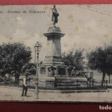 Postales: POSTAL VIGO, ESTATUA DE ELDUAYEN, LIBRERÍA BARRIENTOS. Lote 287603878
