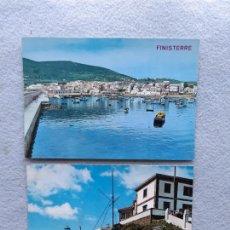Postales: LOTE DE 2 POSTALES DE FINISTERRE. GALICIA. Lote 287915548