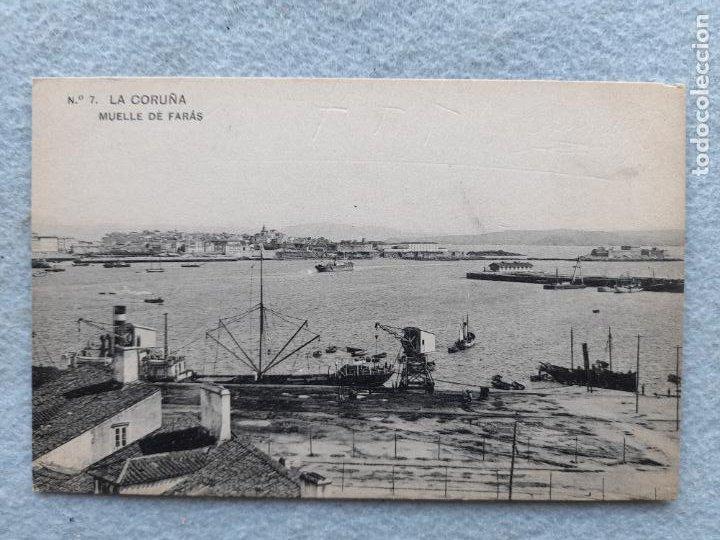 LA CORUÑA. MUELLE DE FARÁS. (Postales - España - Galicia Antigua (hasta 1939))