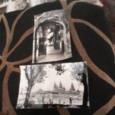 Postales: 2 ANTIGUAS POSTALES FOTOGRAFÍCAS, SANTIAGO DE COMPOSTELA. Lote 288505318
