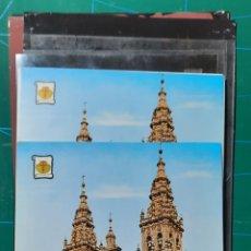 Postales: SANTIAGO COMPOSTELA / CATEDRAL / POSTAL / NEGATIVOS Y PRUEBA DE COLOR / EDI. PERGAMINO. Lote 288506868