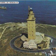 Postales: LA CORUÑA, TORRE DE HERCULES, VISTA AÉREA – POSTALES FAMA Nº3243 – S/C. Lote 288528673