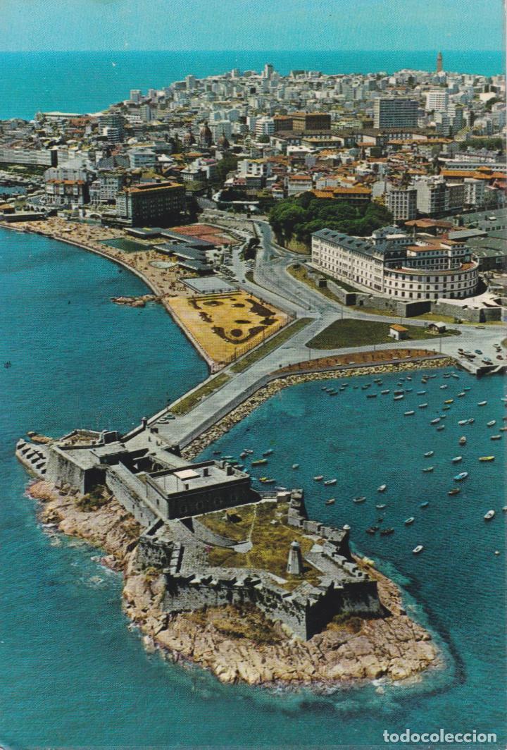 CASTILLO DE SAN ANTON (LA CORUÑA) VISTA AÉREA – POSTALES FAMA Nº4330 – ESCRITA (Postales - España - Galicia Moderna (desde 1940))