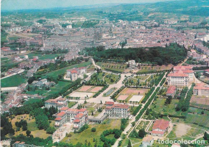 SANTIAGO DE COMPOSTELA, VISTA GENERAL, AÉREA – EDICION DE LA REGION Nº8 – ESCRITA (Postales - España - Galicia Moderna (desde 1940))