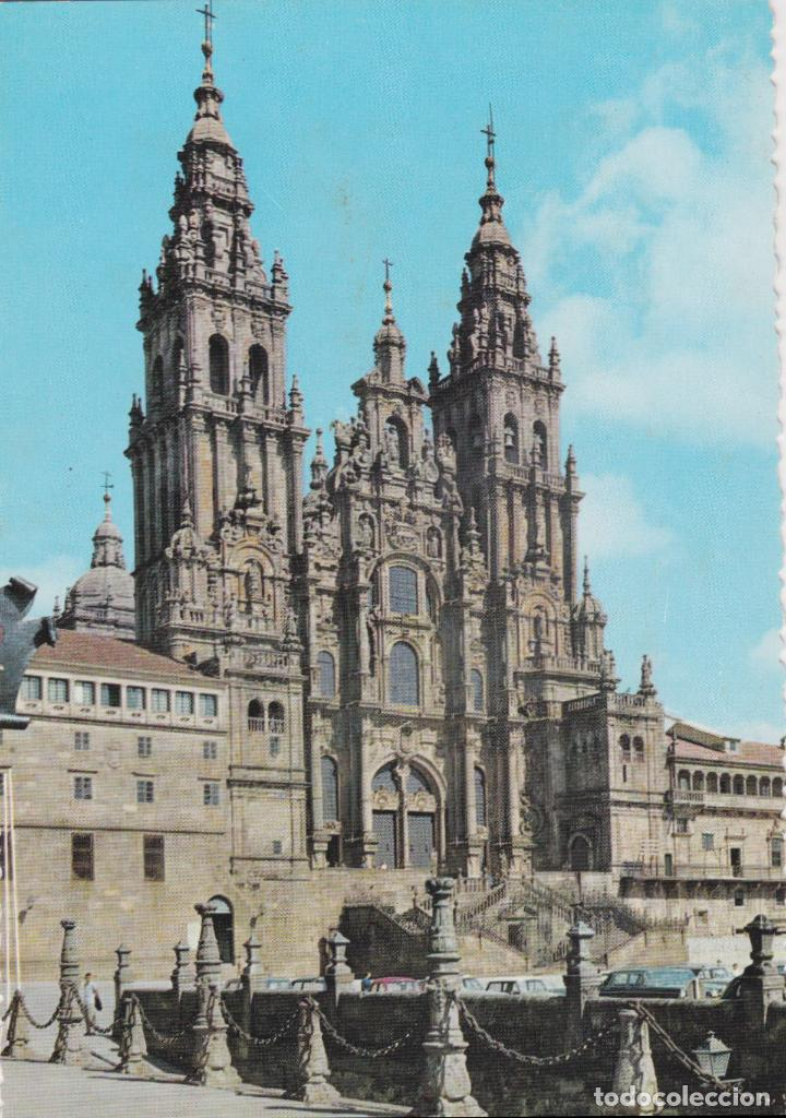 SANTIAGO DE COMPOSTELA, CATEDRAL, FACHADA DEL OBRADOIRO – GARCIA GARRABELLA Nº1 – S/C (Postales - España - Galicia Moderna (desde 1940))
