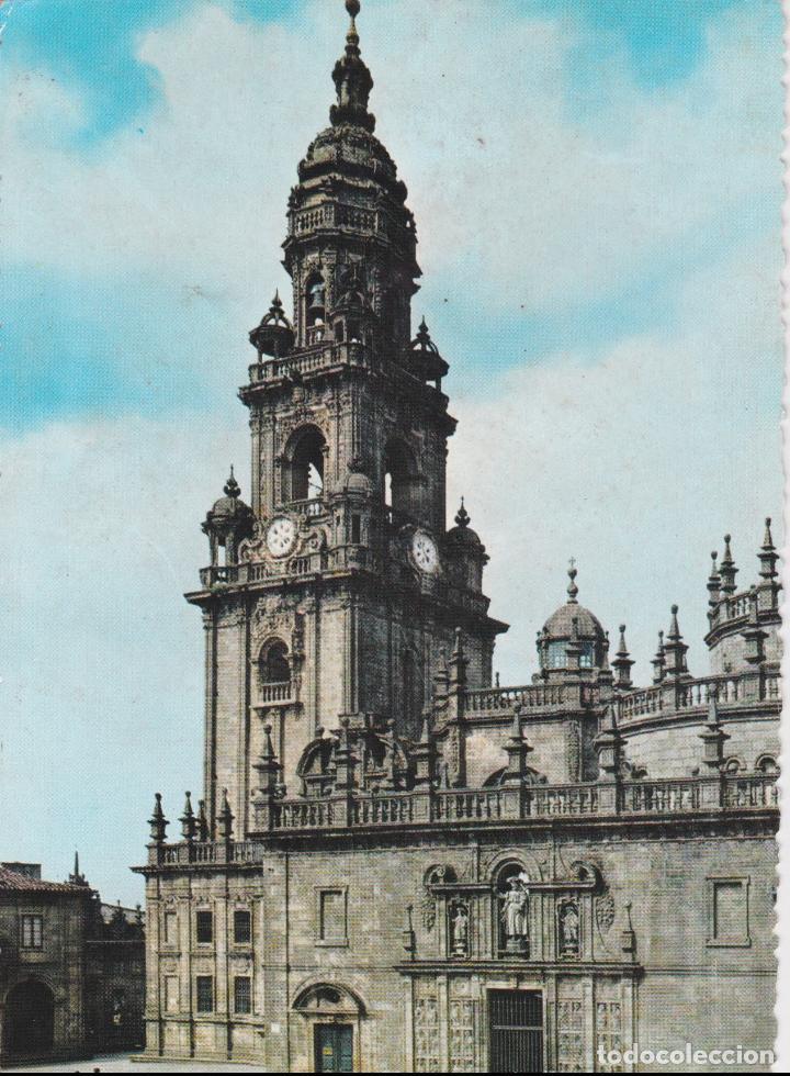 SANTIAGO DE COMPOSTELA, CATEDRAL,TORRE DEL RELOJ Y PUERTA SANTA – GARCIA GARRABELLA Nº10 – S/C (Postales - España - Galicia Moderna (desde 1940))