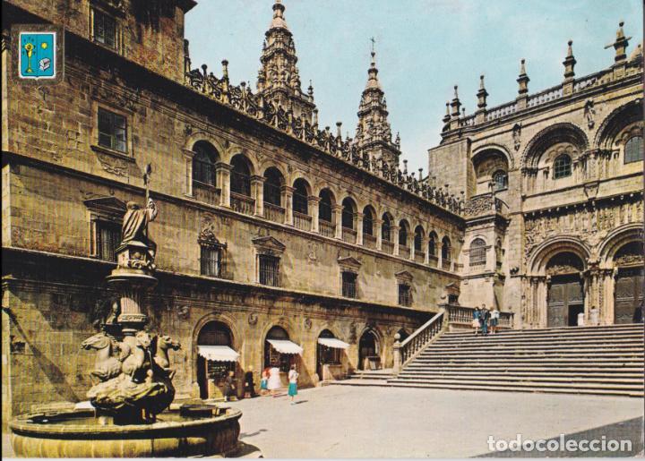 SANTIAGO DE COMPOSTELA, PLAZA DE LAS PLATERIAS – ESCUDO DE ORO Nº6 – S/C (Postales - España - Galicia Moderna (desde 1940))