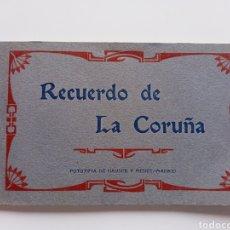 Postales: LIBRO POSTALES RECUERDO DE LA CORUÑA. Lote 288945348