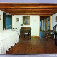 Postales: POSTAL PADRÓN CASA MUSEO ROSALÍA DE CASTRO HABITACIÓN HIJAS FOTO BLANCO AÑOS 70 SIN CIRCULAR. Lote 289313908